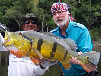 Fishing for Peacock bass in Brazil
