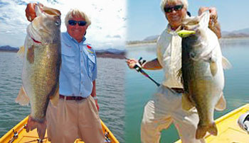 Jimmy Houston fishing Lake Picachos bass in Mexico